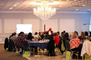 Guest speaker, Nathania A. Branch Miles, at the 2019 Fredericksburg workshop, held at Riverside Center Wedding and Events.