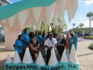 2015 Workshop attendees visiting Gatorland