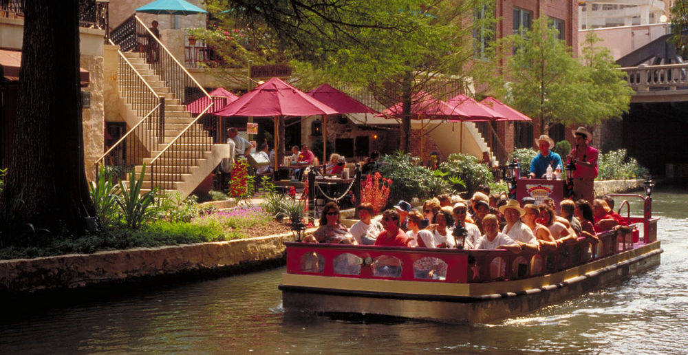 A slow meandering riverboat ride is a different way to see San Antonio. Credit: Craig Stafford