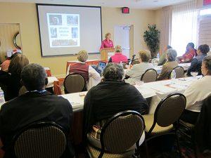 Kimberly Herbert speaking at Fredericksburg, Virginia, workshop.