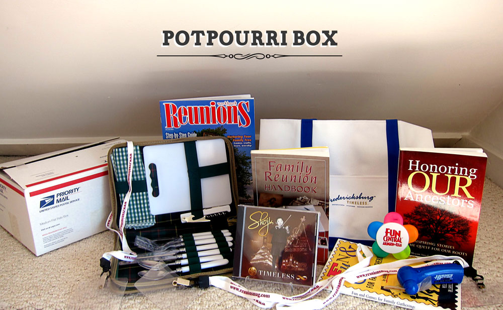 Charles Ellington, Detroit MI, of the Vincent/ Ward Family Reunion won our Potpourri Giveaway box. Congratulations, Charles!