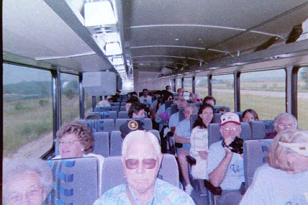 The Werdel Family Reunion on a bus trip of Oelwein, Iowa.