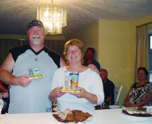 Proud Jeopardy winners, Pete Marshman and Julie Peters