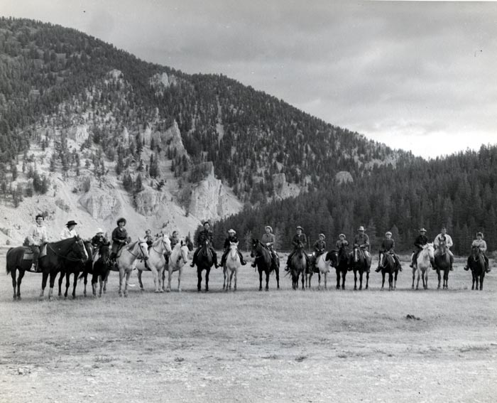 Mintons at Elkhorn Ranch in 1959.