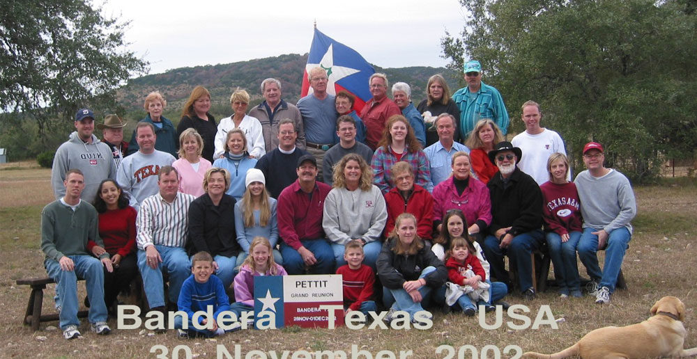 The Pettit Reunion at Dixie Dude Ranch. Click to enlarge.