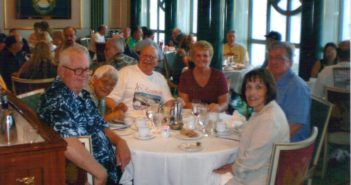 USS Oklahoma City veterans enjoying a reunion cruise.