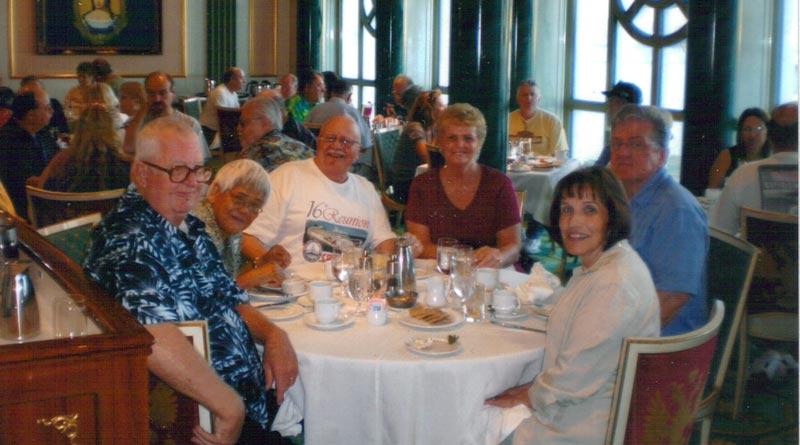 USS Oklahoma City veterans enjoying a reunion cruise.