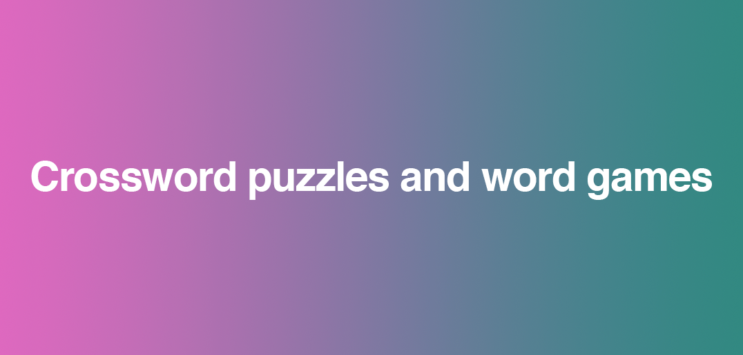 Crossword Puzzles And Word Games Reunions Magazine
