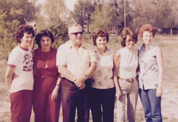 People mentioned in the poem include her mom and mom's siblings (left to right) Jean Ellis, Joann Morgan, Keith Probasco, Joyce Brown, Nadine Brophy and Mason's mom, Jan Ekberg.