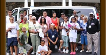 The Spaulding Family Reunion organizes many activities for it's very large reunion. This happy group was touring Ashville, North Carolina, at the 32nd family reunion.