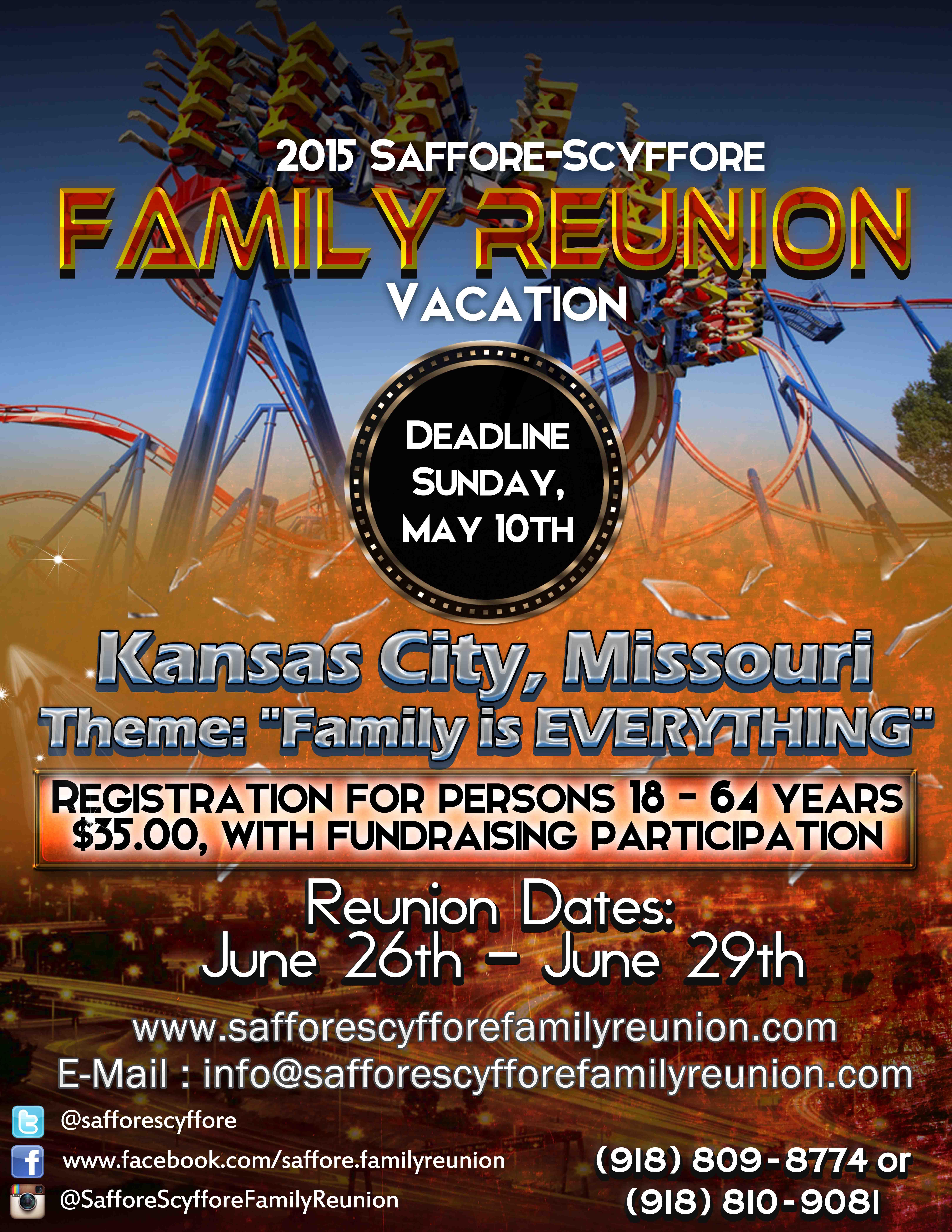 Family Reunion Invitations  Family Reunion Flyer