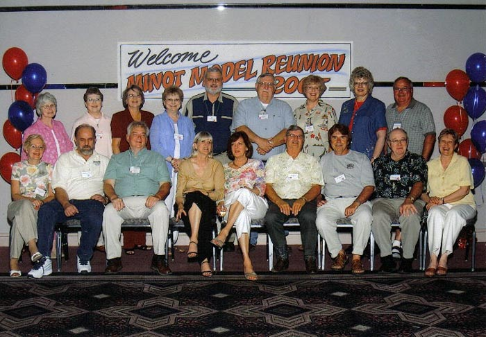 Minot Model Class of 1961 enjoying their reunion.