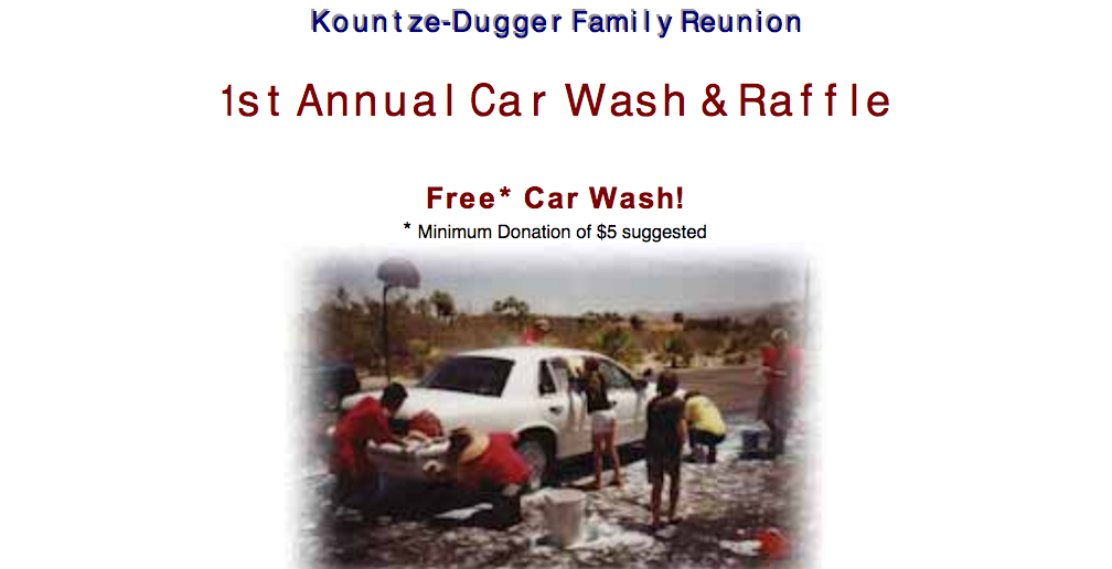 Kountze-Dugger car wash flyer