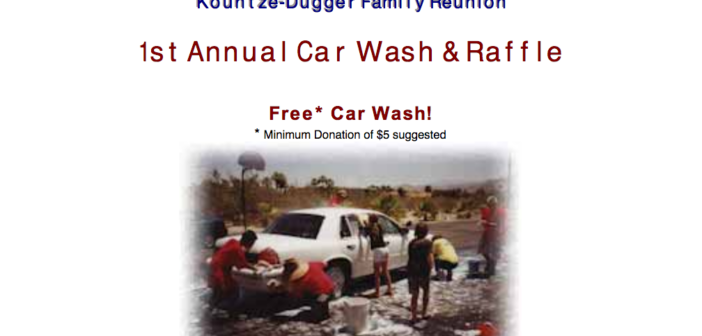 Kountze-Dugger car wash flyer