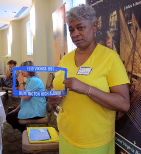 Patricia Taylor brought this sample license plate holder to the Newport News, Virginia, reunion planning workshop.