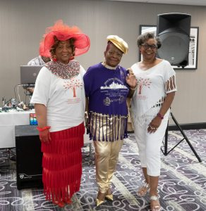 A Fashion Show at the 46th annual Johnson Barnes Family Reunion included the oldest t-shirt contest, Men's GQ and Juniors and these Lady Fashionistas, Rosie Wright (the winner), Christine Gregory and Betty Johnson. You go, ladies! Here is the accompanying video.