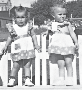 Brolra cousins in 1944, Karen Robertson (left) and Donna Eames