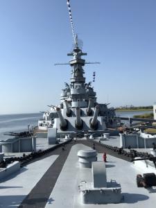 Tour of battleship USS Alabama (BB-60) at USS Alabama Memorial Park, Mobile, Alabama.