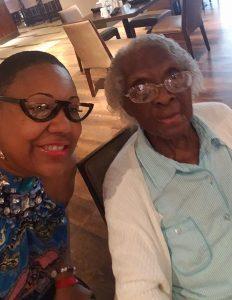 Glenda Nelson and oldest family member, Alzrio McDonald.
