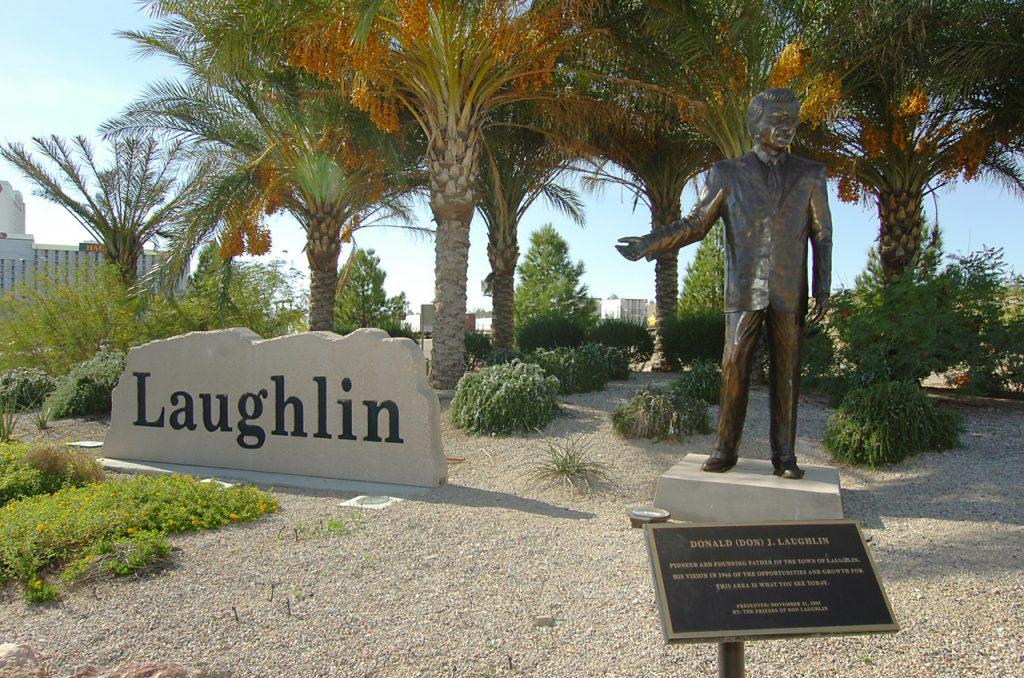 Don Laughlin statue. Photo by Bob Brye.