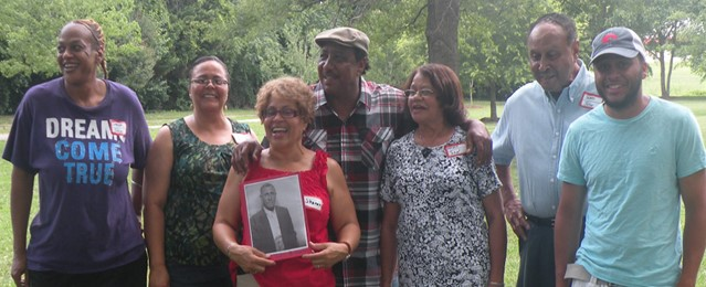 John Robert Descendants L to R: Janson Richardson, Janice R. Chapman, Sharon R. Amos , Jerome Richardson, Mamie Richardson , James Richardson , Seth Chapman