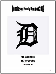 2019 Donaldson Family Reunion Book. Click to read.