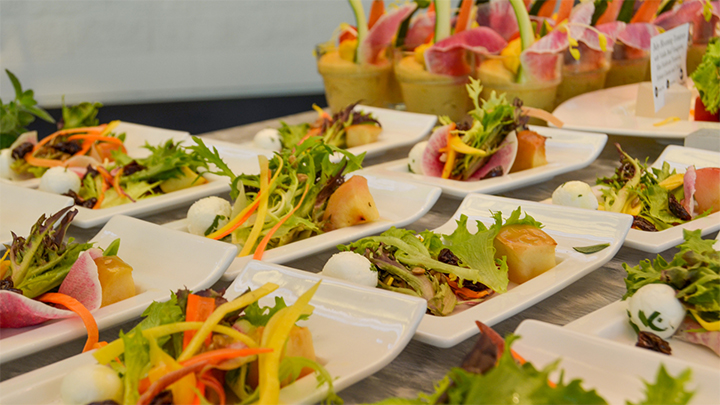 With a focus on local and sustainable dining, Centerplate prepares fresh dishes with produce harvested directly from the OCCC's Center-to-Table Gardens.