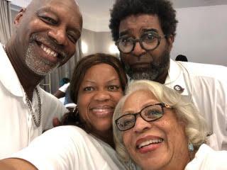 (L-R) Barry Johnson and Basym Hasan, Sonja Branch-Wilson, Muriel Miller Branch