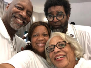 (L-R) Barry Johnson and Basym Hasan, Sonja Branch-Wilson, Muriel Miller Branch