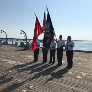 USS Eugene A. Greene (DD/DDR-711) Memorial Service for deceased shipmates.