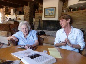 Mimi Newhagen celebratetd her 90th birthday at the reunion.
