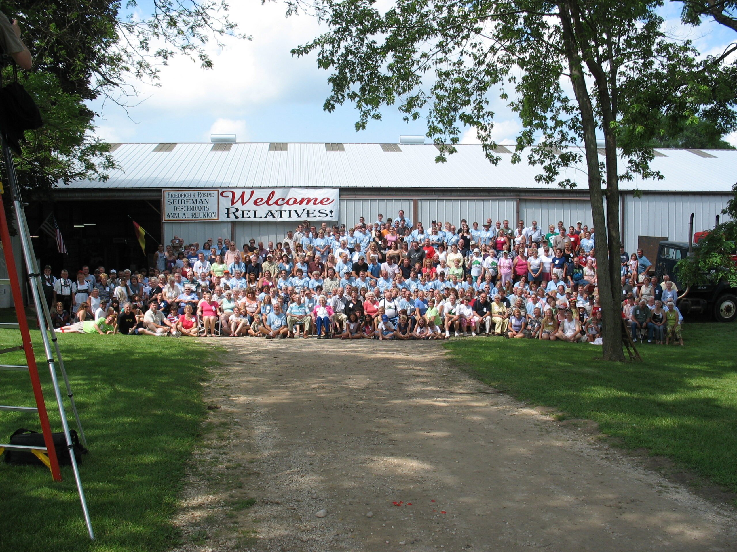 75th annual Seidemann Family Reunion at the family farm in Newburg, Wisconsin, was awarded a Sesquicentennial Ownership Certificate from the State of Wisconsin in 2008.