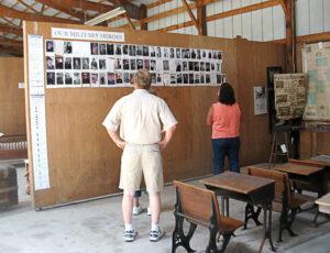 Seidemann Family Reunion Military Reunion wall.