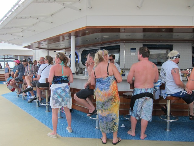 The pool bar is always popular.