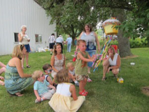 Piñatas are popular for kids at reunions.