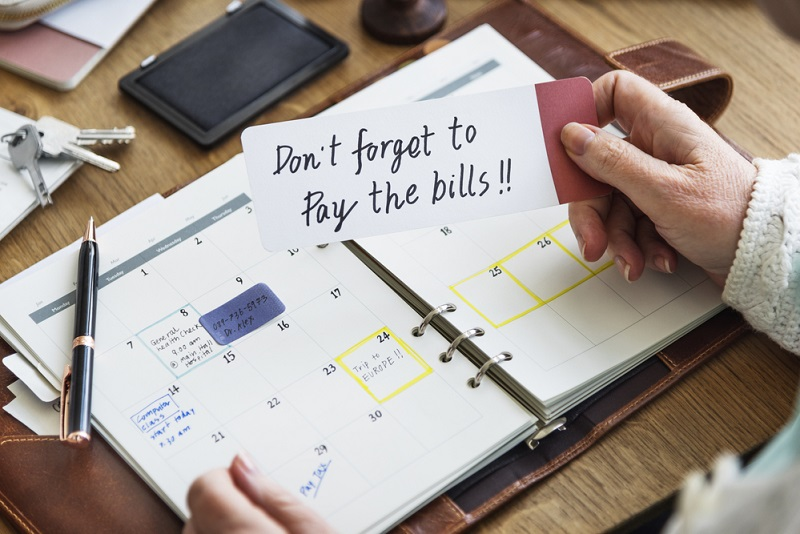 do not forget to pay bills for a reunion