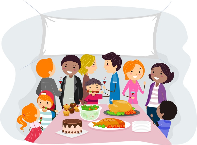Illustration of a Family Gathering