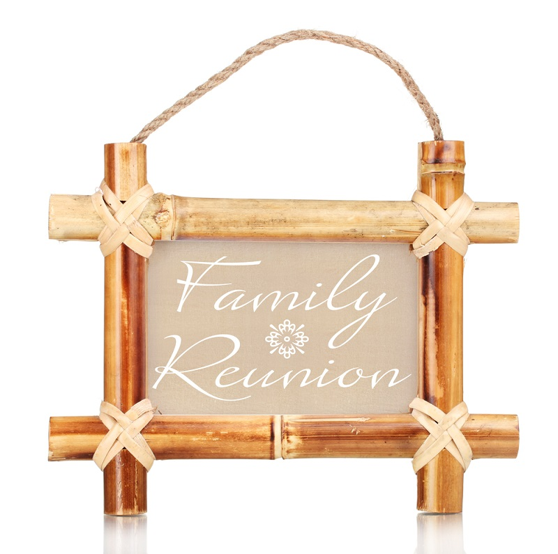 photo frame with text Family Reunion